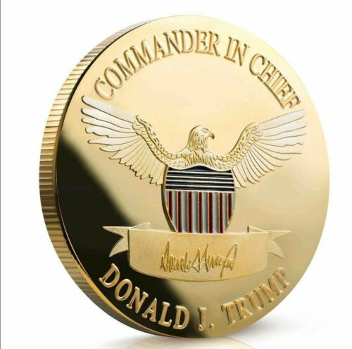 Trump Coin Commander in Chief Keep America Great Commemorative Gold Plated 1 Pc