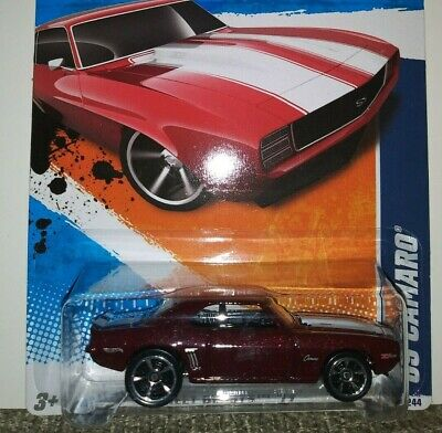2011 Hot Wheels STREET BEAST #82 ∞ '69 CAMARO ∞ MF BURGUNDY VARIANT US LONG CARD