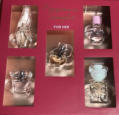 Women's 5 Piece Perfume Gift Set EDP AZZRO DonnaKoran Versace Moschino DSQUARED2