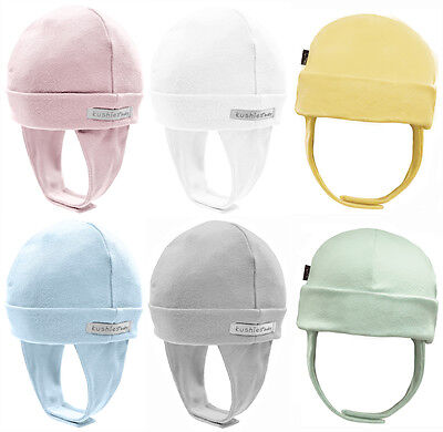Kushies 100% Cotton Interlock Baby Boys or Girls Cap Hat with Ear Flap - 533524 ()