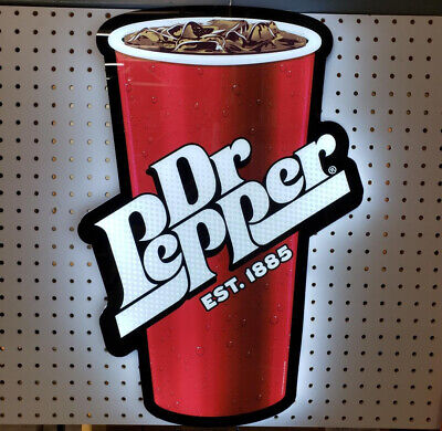 Custom Dr. Pepper Slim Led Illuminated Sign 24 X 17 X 0.5