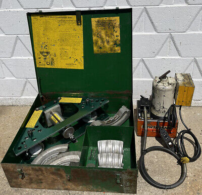 Greenlee 777 1 14-4 Rigid Pipe Bender W Power Team Hydraulic Pump Pe-462