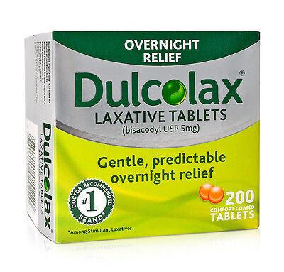 200 Dulcolax Laxative Tablets (bisacodyl USP 5mg), Brand-New-In-Box, EXP -