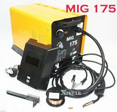 Auto Welder Fabrication Mig 175 160amp 110v Mag Flux Core Welding Machine Gas