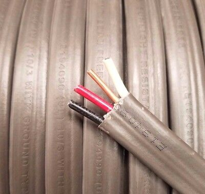 Southwire 50' 10/3 w Ground AWG Gauge UF-B Copper, Underground Bury Wire Cable  for sale  Shipping to Canada