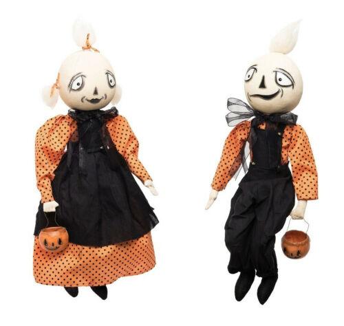 "Ozana & Ozzie Ghost Kids 16"" Dolls Joe Spencer Halloween Gathered Traditions New"