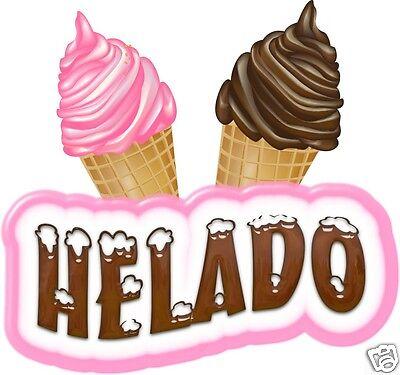 Helado Concession Decal 14 Ice Cream Cone Soft Serve Food Truck Menu