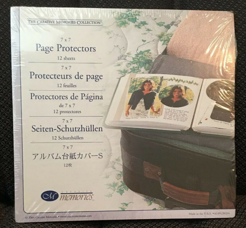 New Creative Memories 7 x 7 PAGE PROTECTORS - Old Style 12 Sheets Sealed Retired