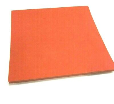 Silicone Rubber Sheet Solid 14 Thk X 4 X 4 Sq Pad Us Commercial 60 D Red