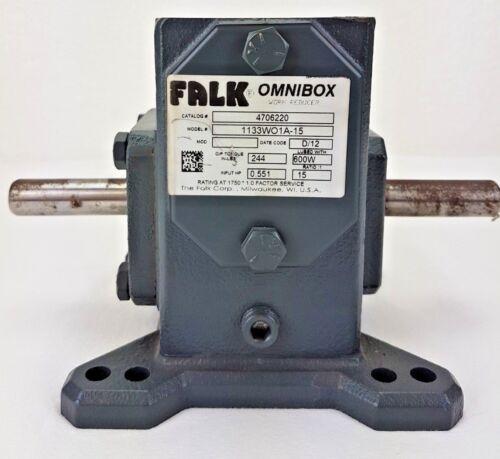FALK OMNIBOX 1133W01A-15 WORM GEAR SPEED REDUCER / RATIO 15:1