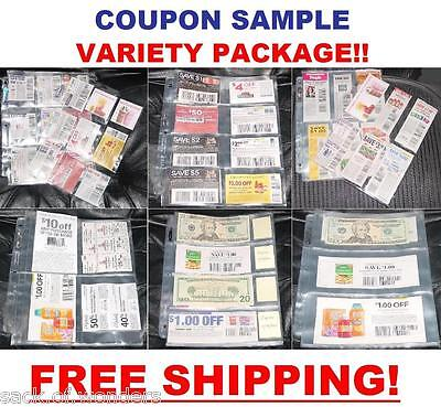 COUPON BINDER SLEEVES PAGES Organizer Holder SAMPLE PACK! 9p, 8p, 6p, 4p, 4c, 3p