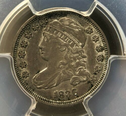 1836 10c Capped Bust Dime PCGS XF40 Silver Coin