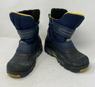 Khombu Snow Warm Boots Grip Hike Walk Insulate Hook & Loop Multi Shoes Size 2 UK