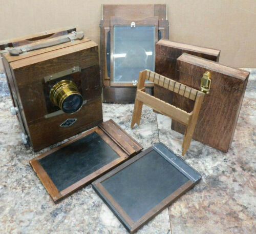 Vintage 5x7 Keith Wet Plate (Collodion) Camera w/ Taylor Hobson Cooke Lens