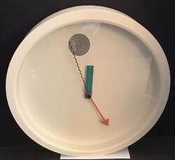 WAKITA Wall Clock White Memphis Shoei Mihara Pop Art BEAUTY!!