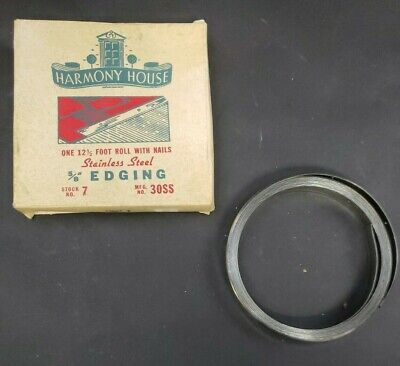 2 Rolls of lVintage Harmony House Stainless Steel Edging -- 5/8