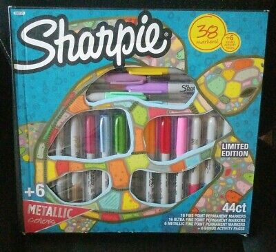 Sharpie Permanent Markers Limited Edition 38 Markers 6 Activity Pages