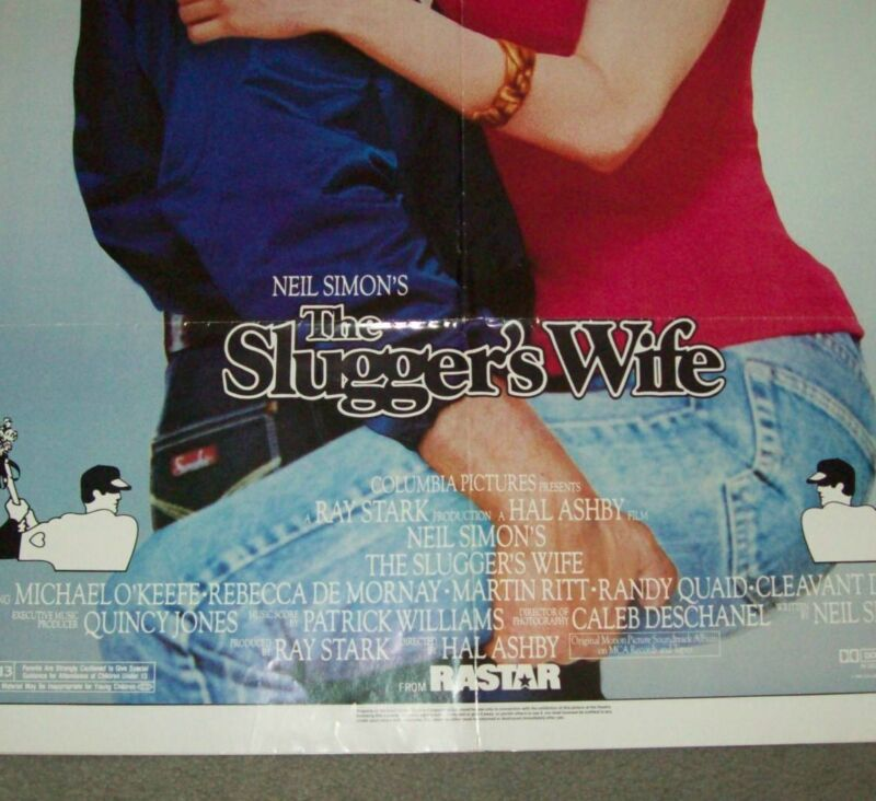 "ORIGINAL MOVIE THEATRE ADVERTISING POSTER ""THE SLUGGER'S WIFE"" FROM 1985"