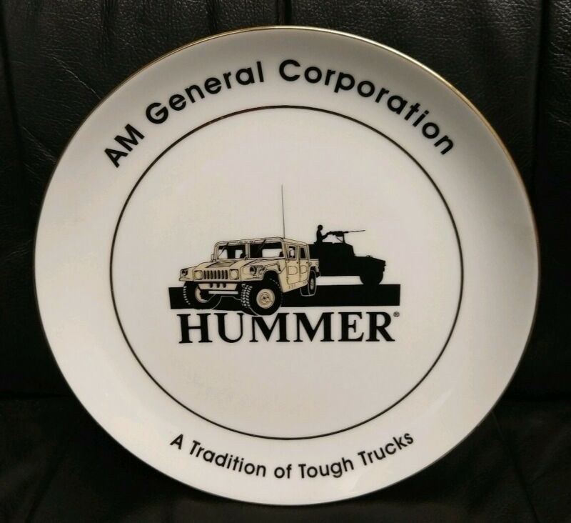 "Vintage Hummer AM General Corporation Advert Plate 10 1/4"", Excellent Condition!"