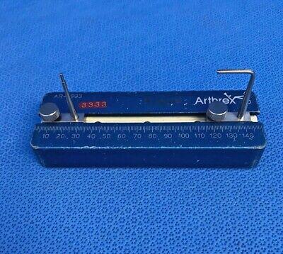 Arthrex Ar-1893 Patellar Tendon Sizing Block W Ar-1892 Ar-1891 Arthroscopy
