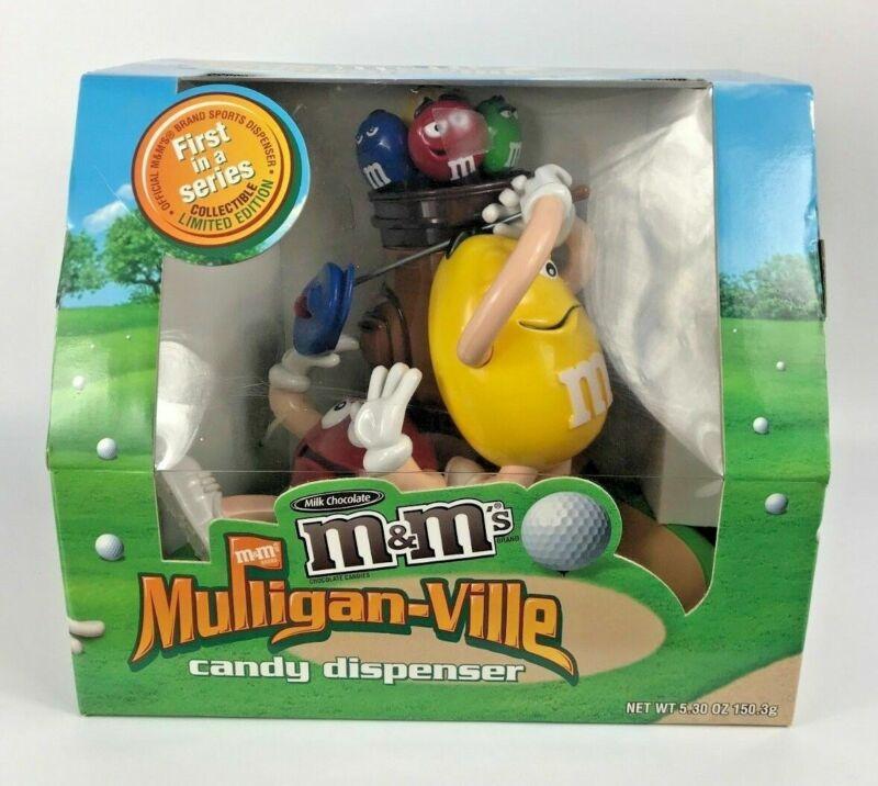 NIB M&M Candy Dispenser Mulliganville Golf Golfer Limited Edition