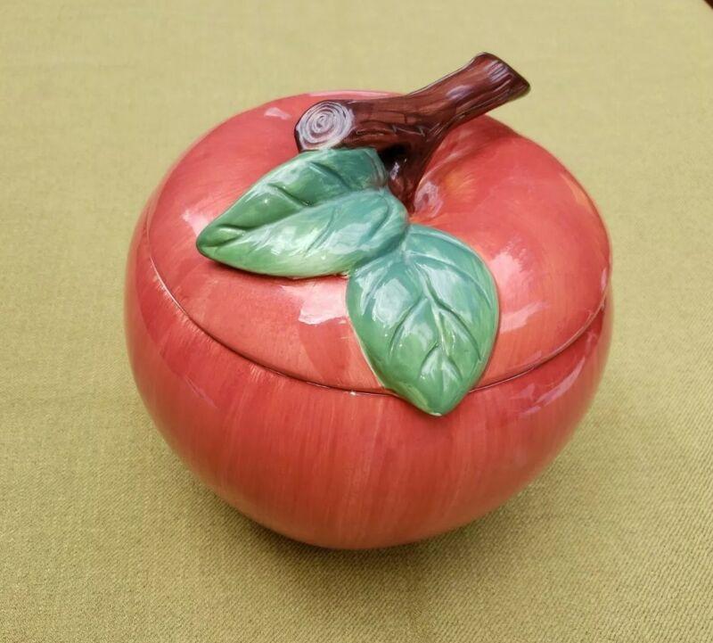Preowned. Apple Storage Jar with Lid Cookie Treat Jar