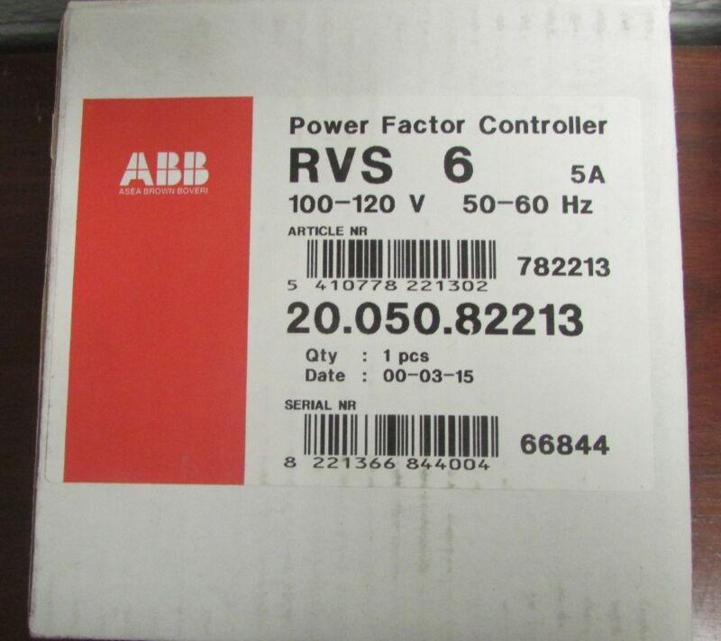 ABB RVS 6 100 120 V  5 AMP Power Factor Controller 20 050 82213