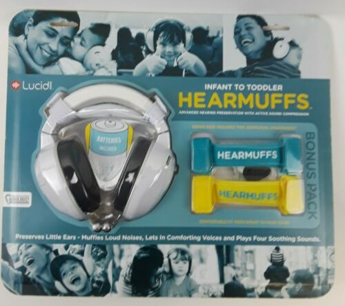 NEW HearMuffs + Grow Bands Lucid Audio Infant to Toddler Hearing Protection
