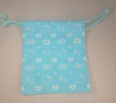 Blue KT Hello Kitty Drawstring Bag 6x7 inches