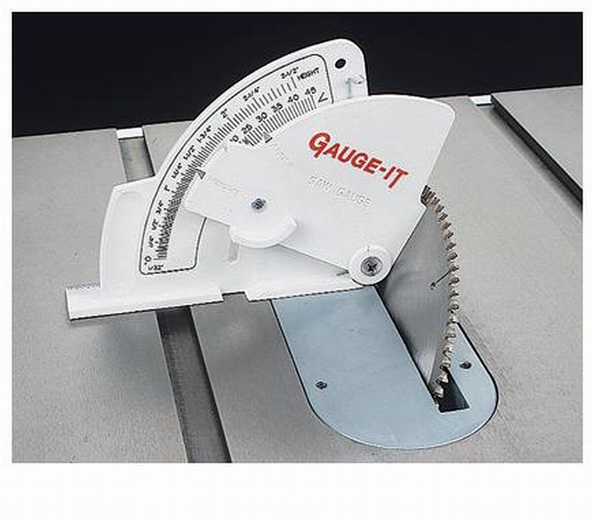 Gauge-it Table Saw Blade Height, Angle & Fence Gauge 4 Delta Grizzly Craftsman +