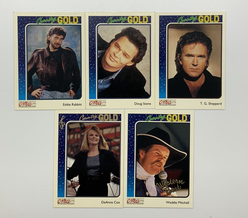 Lot Of 20 - CMA Country Gold Trading Cards Deck Collectible 1992 FREE SHIPPING!!