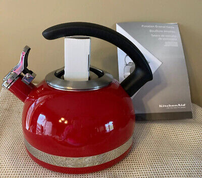 KITCHENAID RED 2.0-QT.  STOVE TOP KETTLE WITH C HANDLE KTEN20CB ~ NEW NO BOX
