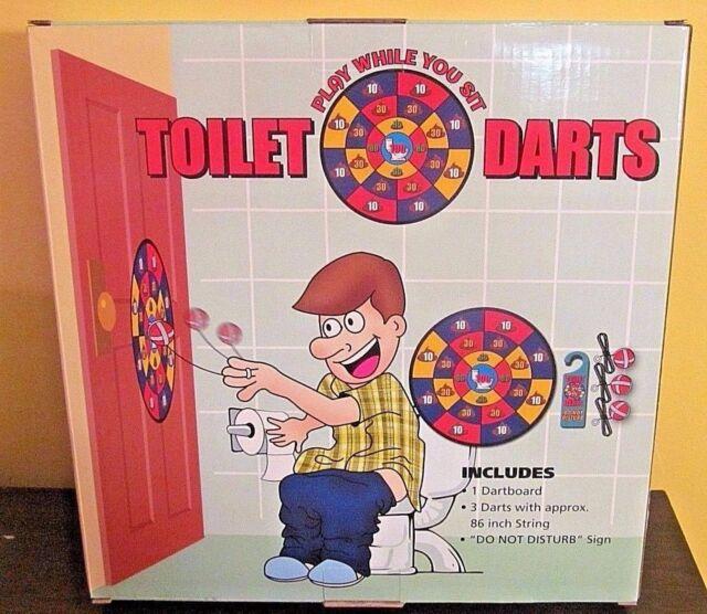 Bathroom Sign Game toilet bathroom basketball set game potty sports silly gag gift