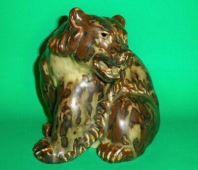Danish Modern Royal Copenhagen / Knud Kyhn LARGE Stoneware Sitting Bear