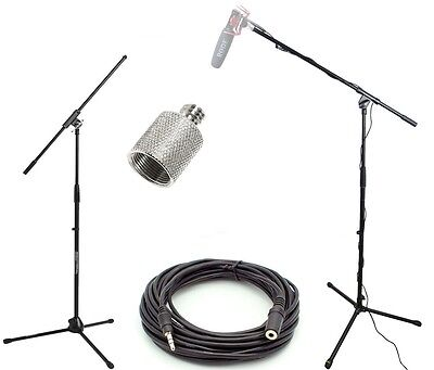 Studio Boom Kit for Rode VideoMic Microphones - Boom Stand, Adapter, 25' Cable