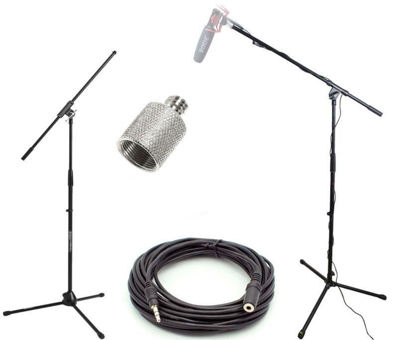 Studio Boom Kit for Rode VideoMic Microphones - Boom Stand, Adapter, 25
