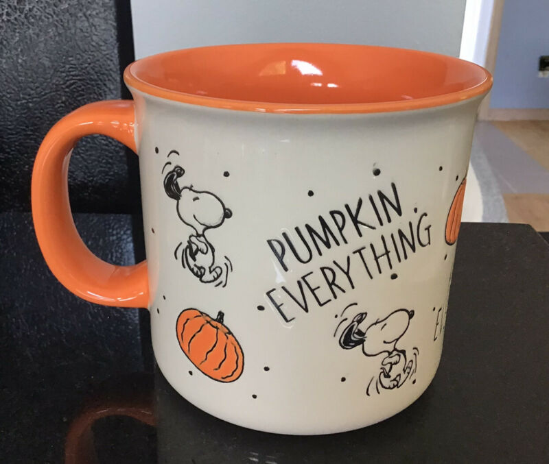 "NWT Peanuts Fall Snoopy Halloween/Thanksgiving ""Pumpkin Everything"" Mug"