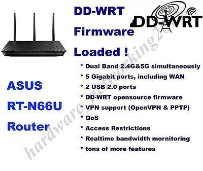 Asus RT-N66U RT-N66R Wireless Router, DD-WRT VPN Firmware,Can SETUP VPN service Asus Wireless Set Up