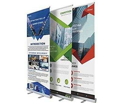 Klvied Retractable Roll Up Portable Banner Stand