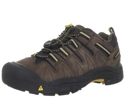 Keen Shoes 2 Toddler Kids Gypsum Hiking Brown Mineral Yellow Leather