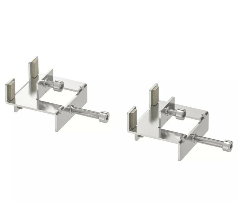 NEW IKEA LINNMON Connecting Hardware Nickel Plated 2 Pack 402.610.57 Table Desk