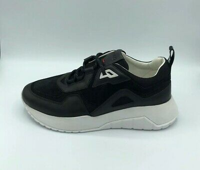 Hugo Boss Mens Size 12 Atom Runn Nams Fashion Sneakers Shoes Leather Suede New
