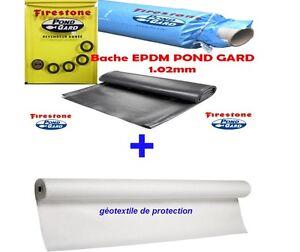 B che epdm firestone 4 27m g otextile 300g ebay for Bache firestone