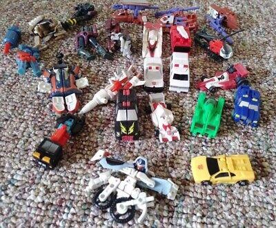 Large Lot of TRANSORMERS Mini G1 Energon Armada Unicron Cybertron + parts Comics