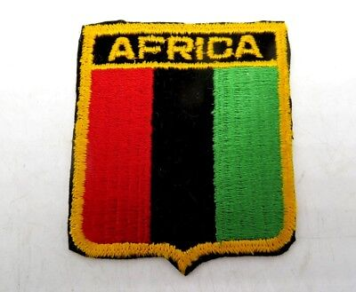 Vintage Embroidered Travel Souvenir Flag Patch - Africa