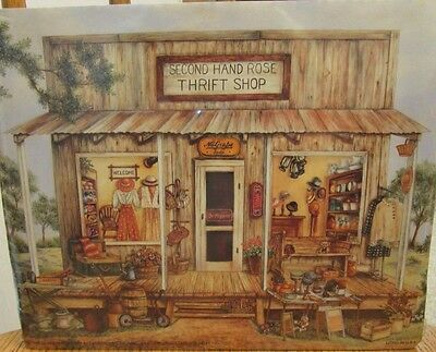 New Sealed Print Country Vintage Thrift Shop Second Hand Rose 8x10""