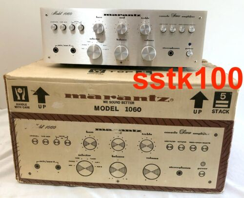 NICE VINTAGE MARANTZ 1060 amp  - REFURBISHED / REPAIRED - EXCELLENT W/ BOX