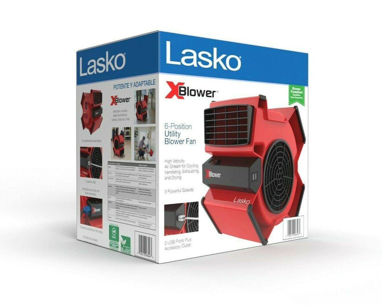 Lasko X-Blower Multi-Position Utility Blower Fan, Model X129