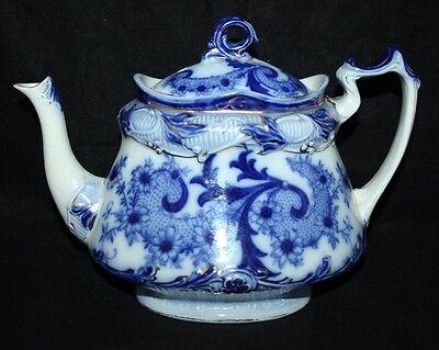 Burleigh Ware - Venice - Blue & White Tea Pot - c1930 - vgc