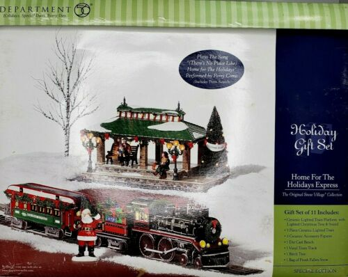 Dept 56 Snow Village Home for the Holidays Express Gift Set Mint!